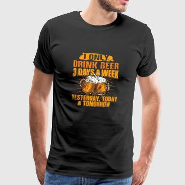 T-shirt Beer Beer 3 Days A Week - Maglietta Premium da uomo