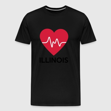 heart Illinois - Men's Premium T-Shirt
