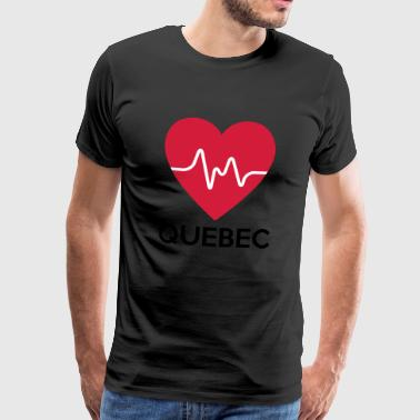 heart Quebec - Men's Premium T-Shirt