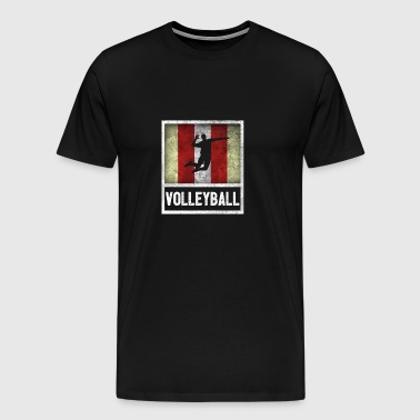 Vintage design for sports VOLLEYBALL - Men's Premium T-Shirt
