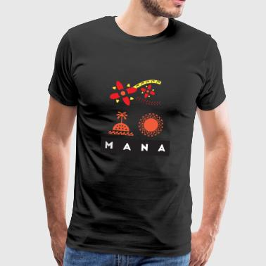 Mana Surf Sun Sea Flowers and Love af Te Moana - Herre premium T-shirt