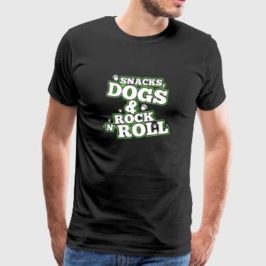 Snacks, Chiens & Rock'n'Roll - T-shirt Premium Homme