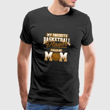 Basketballspillere Mamma Gave - Premium T-skjorte for menn