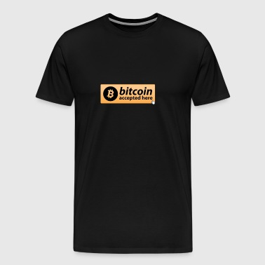 BITCOIN ACCEPTED HERE MOUSEPAD CRYPTO - Men's Premium T-Shirt
