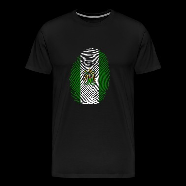 Rhodesian flag fingerprint - Men's Premium T-Shirt
