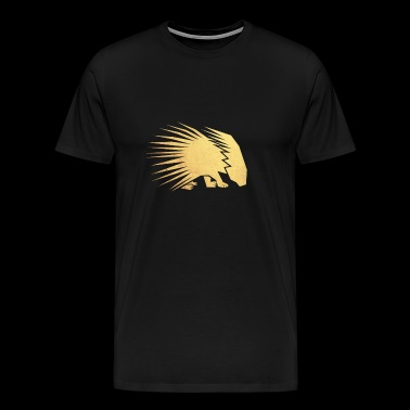 gold porcupine - Men's Premium T-Shirt