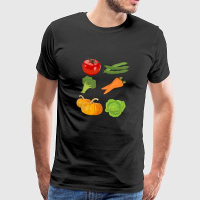 kuerbis pumpkin halloween gemuese vegetables180 - Männer Premium T-Shirt