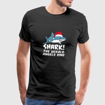 Shark The Herald Angels julegave - Premium T-skjorte for menn
