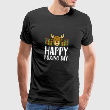 Happy Boxing Day Reindeer Presents Christmas Box - Men's Premium T-Shirt