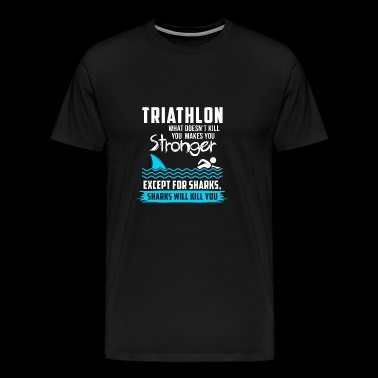 Triathlon T-shirt · · · triathlète triathlète Spor - T-shirt Premium Homme