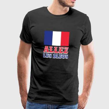 Allez Les Bleus Rooting For France Frenchman Proud - Men's Premium T-Shirt