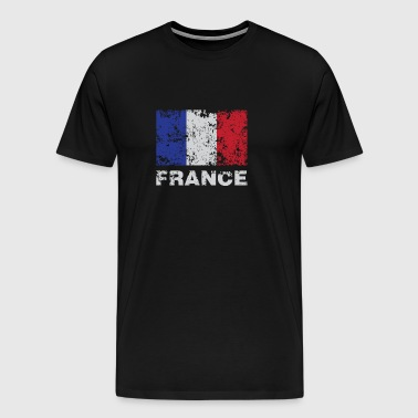 Distressed Flag Of France French Republic Pride - Men's Premium T-Shirt