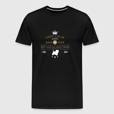 West Highland White Terrier - Mannen Premium T-shirt