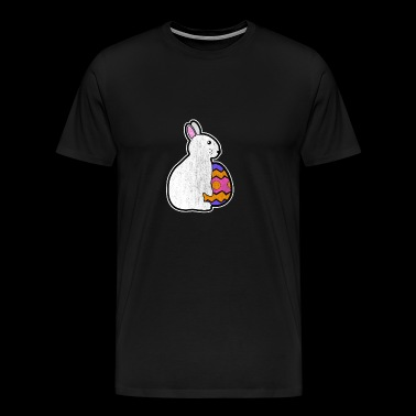 Easter Bunny with Easter Egg Happy Easter Gift Bunny - Men's Premium T-Shirt