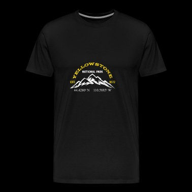 Yellowstone National Park 1872 Longitude Latitude - Men's Premium T-Shirt