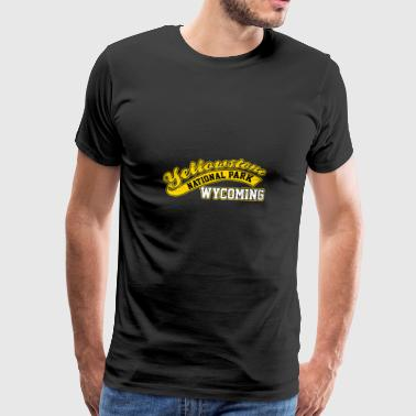 Yellowstone National Park Wyoming Baseball Style - Premium T-skjorte for menn