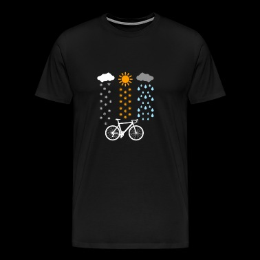 Bicycle in any weather / gift - Men's Premium T-Shirt