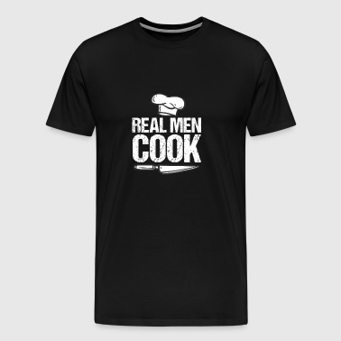 Real men cook - cook - gift - Men's Premium T-Shirt