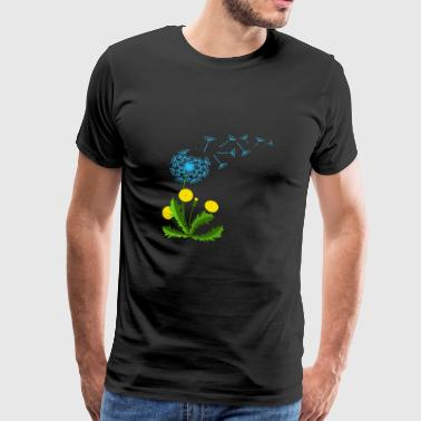 Dandelion blue flower yellow gift idea - Men's Premium T-Shirt