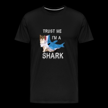 Trust Me I'm A Shark Funny Cat In Costume Graphic - Men's Premium T-Shirt