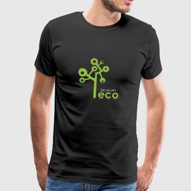 Eco System - Organic, Eco Tree - be smart be green - Men's Premium T-Shirt