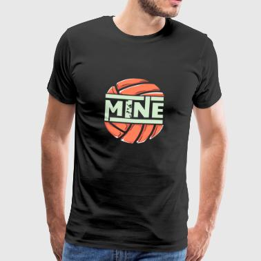 funny love mine volleybal - Mannen Premium T-shirt