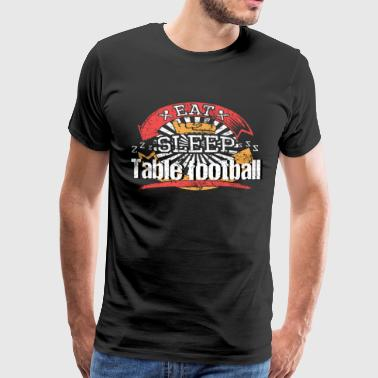 Eat Sleep Foosball - Premium T-skjorte for menn