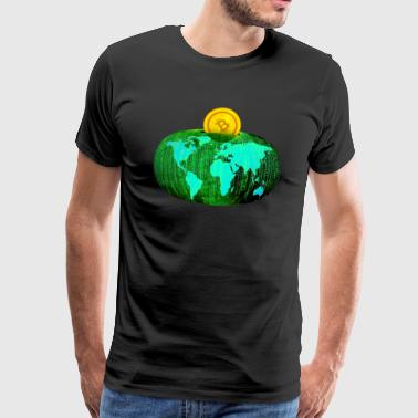 BitCoin Coin World Savings - Camiseta premium hombre
