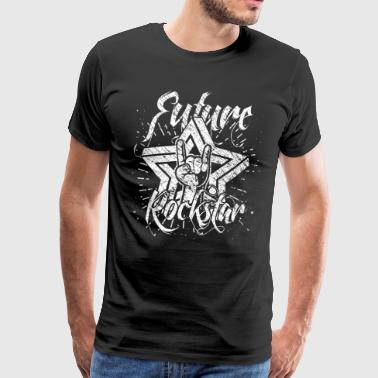 future rocker guitar vintage music star - Men's Premium T-Shirt