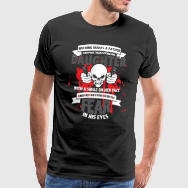 Nothing makes a dad happy smile love - Men's Premium T-Shirt