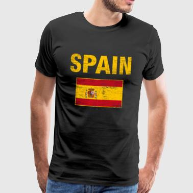 Spain Flag Heimatliebe Spaniard vintage - Men's Premium T-Shirt