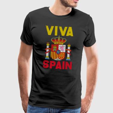Sense of Life Spain Coat of Arms Europe Madrid Gift - Men's Premium T-Shirt
