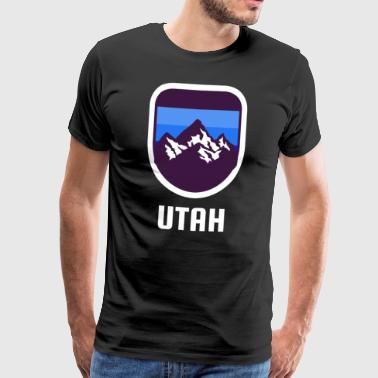 Utah Rocky Mountains Retro - T-shirt Premium Homme