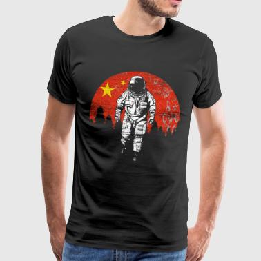 Astronaut China Vollmond - Männer Premium T-Shirt