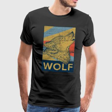 Wolf shepherd dog werewolf dog pack gift - Men's Premium T-Shirt