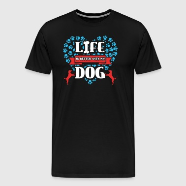 Dog Dog Love Saying Dog Love Dog Saying - Men's Premium T-Shirt
