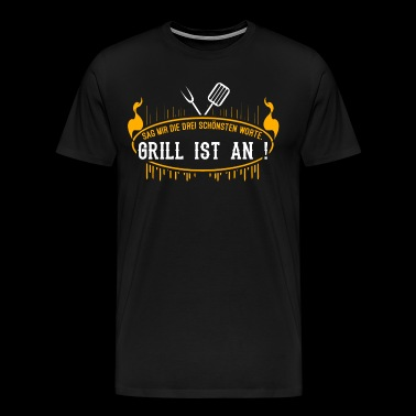 Barbeque BBQ BBQ Sausage Steak Say Barbecue - Men's Premium T-Shirt