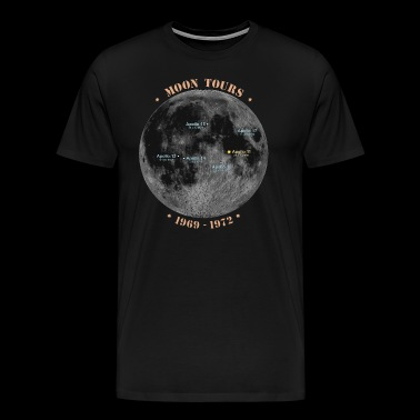 Moon Tours - Moon Landings Apollo 1969-1972 - Men's Premium T-Shirt