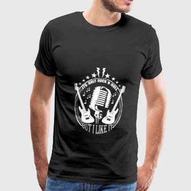 Rock'n Roll EVENT GIFT PARTY Gitarr - Premium-T-shirt herr