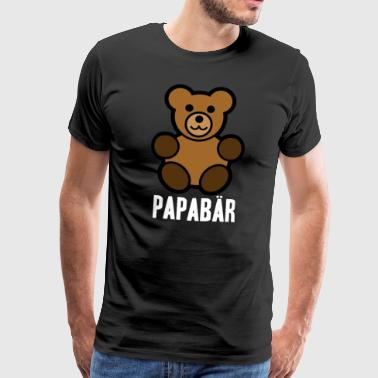Papabär Father's Day Idea regalo Orso animale - Maglietta Premium da uomo