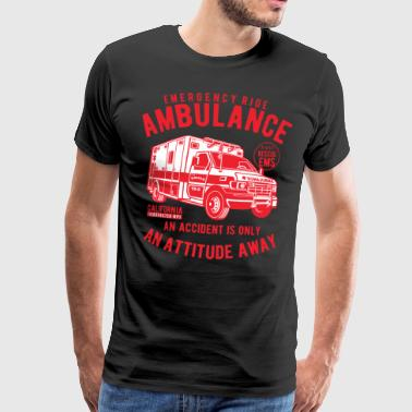 Ambulance Rescue Blaulicht Ambulance Ambulance Help - Men's Premium T-Shirt