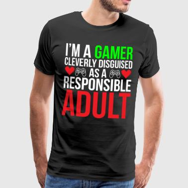 Responsible Adult Funny Gamer T-shirt - Men's Premium T-Shirt