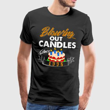 Blowing Out Candles Since 1998 - Men's Premium T-Shirt