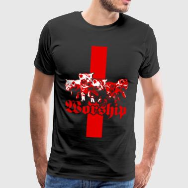 Worship Satans Kitties - Männer Premium T-Shirt