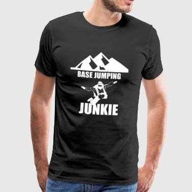 Basehopping Junkie - Premium T-skjorte for menn