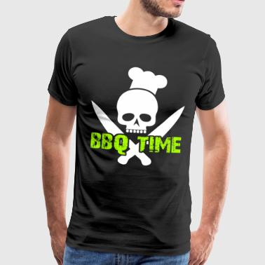 BBQ Time Skull Knifes BBQ Party BBQ Party - Herre premium T-shirt