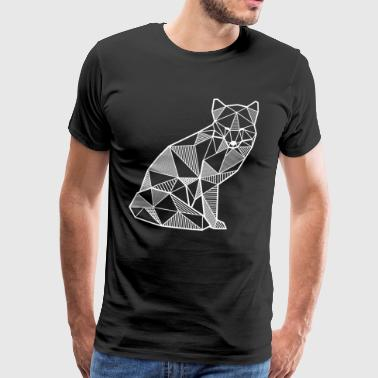 Fox geometric gift idea fox forest animal wild - Men's Premium T-Shirt