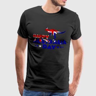 Happy Australia Day Gift Idea Australia Day - Premium T-skjorte for menn