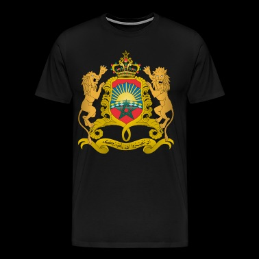 Morocco Coat of Arms - Men's Premium T-Shirt