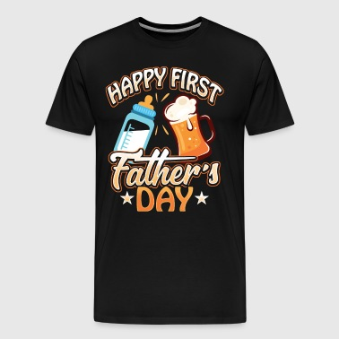 Father and Daughter Son First Father's Day Gift - Men's Premium T-Shirt